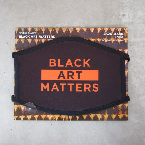 Willie Cole Black Art Matters: Face Mask Adult Large
