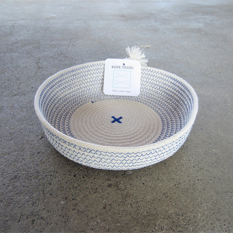 Rope Vessel: Blue 6.5