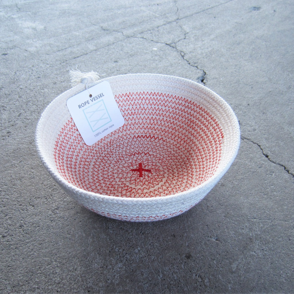 "Rope Vessel: Red 6"" Bowl"