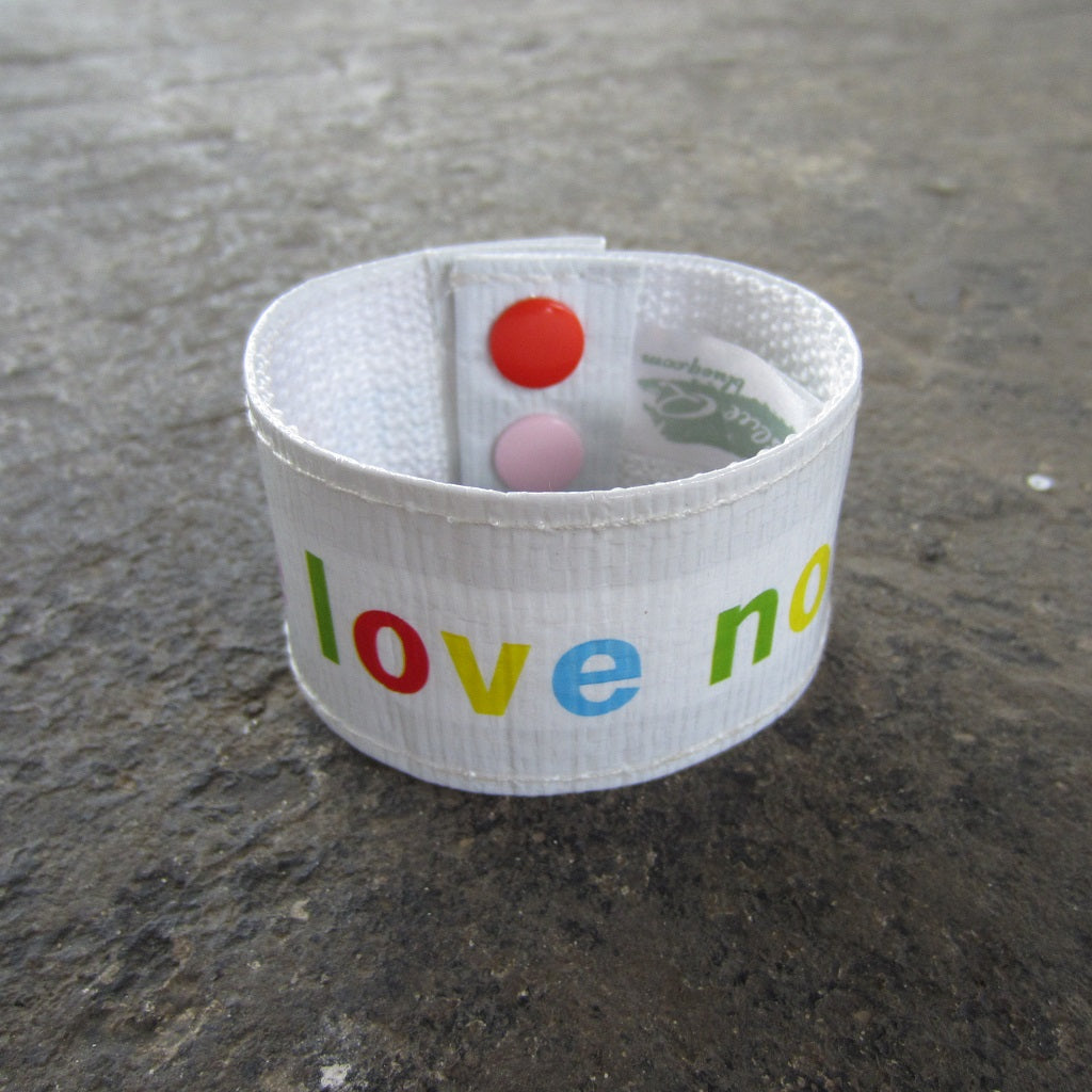 Cuff Bracelet: Make Love Not War