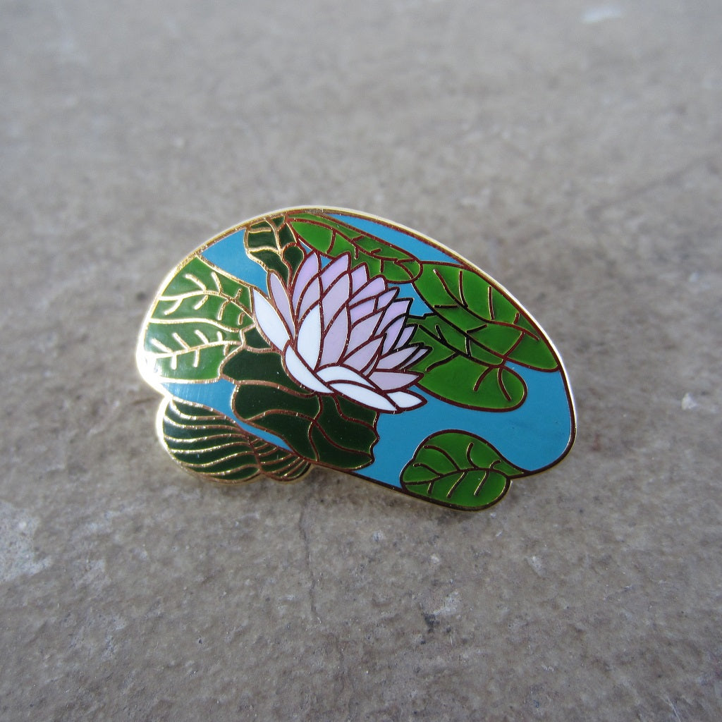 Enamel Brain Pin: Lily