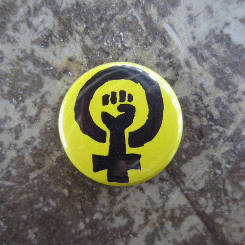 Noah Lyon Button: Feminist (Yellow)