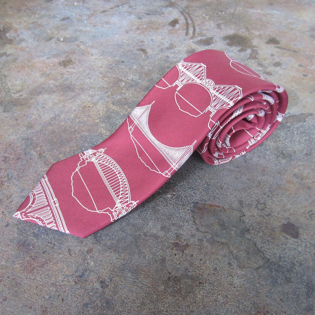 Silk Necktie: Bridges