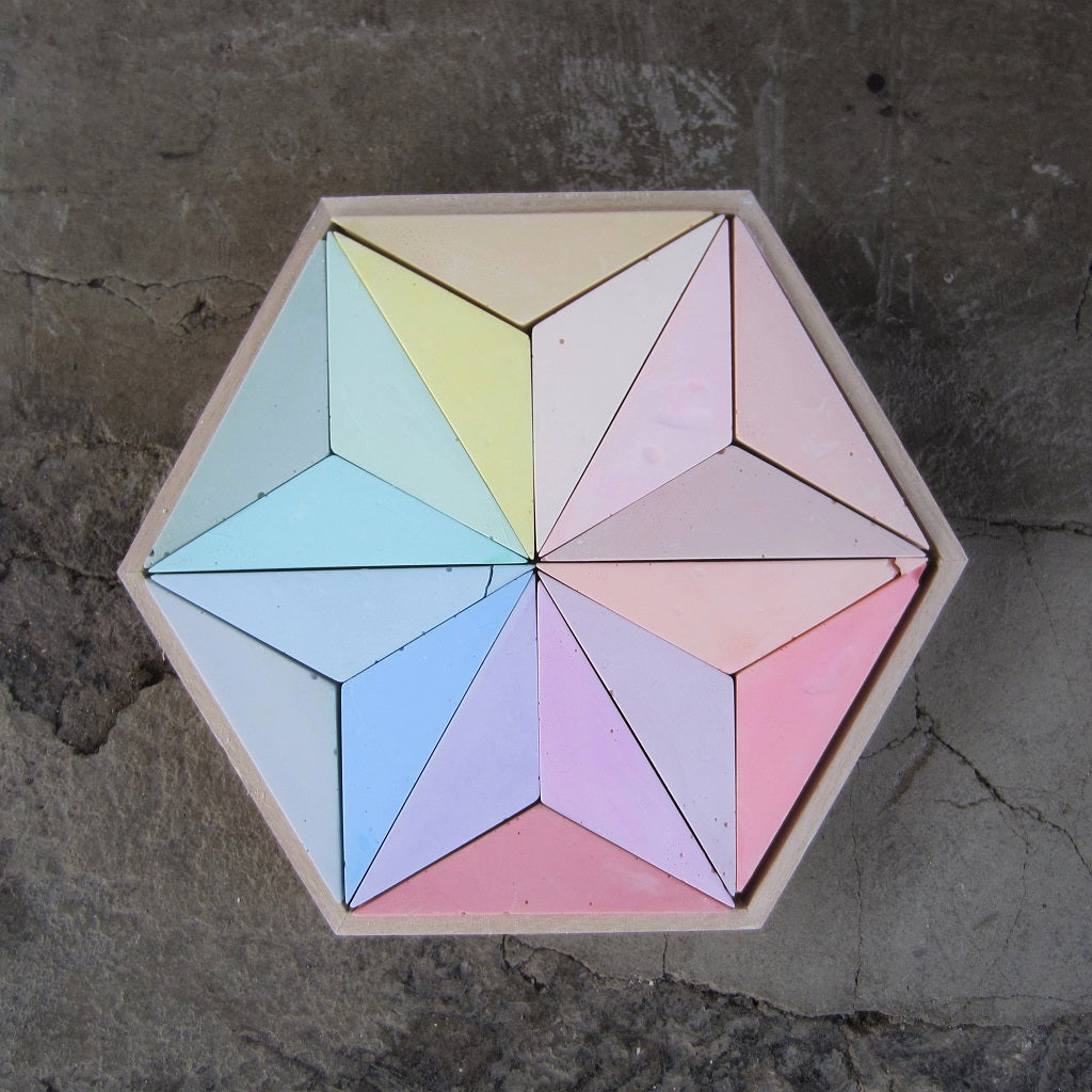 Colorful Geometric Chalk Set