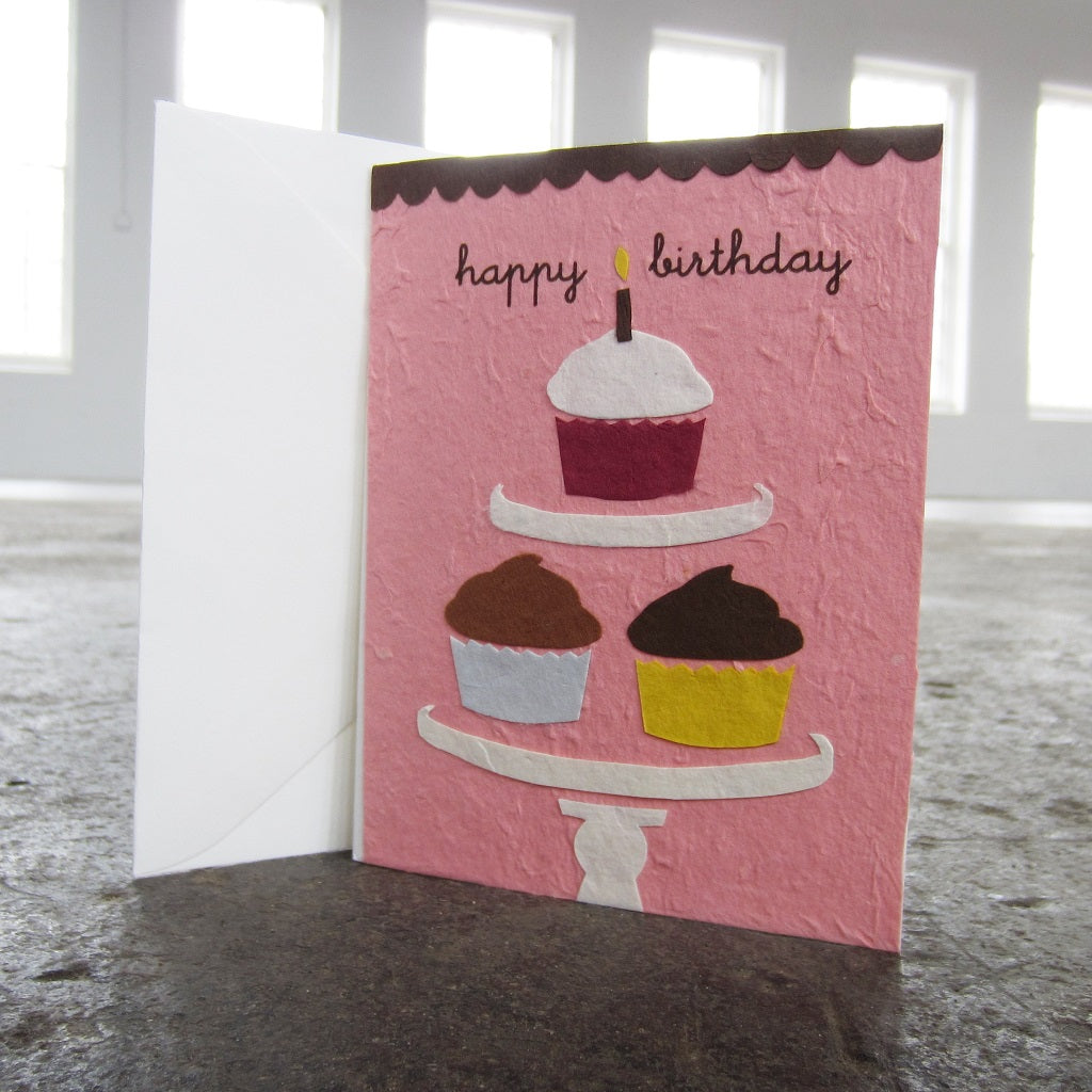 Greeting Card: Cupcake Birthday