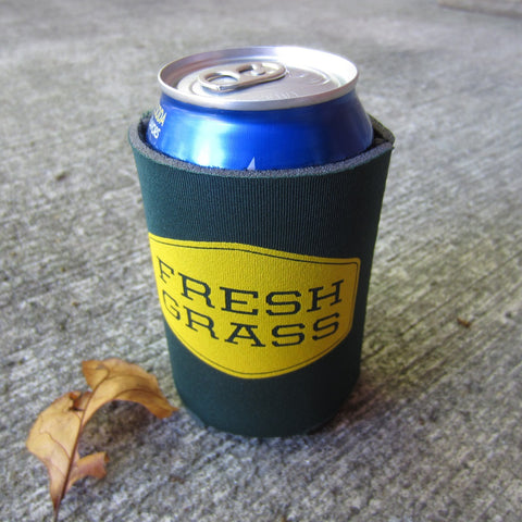 FreshGrass Koozie: Dark Green and Yellow