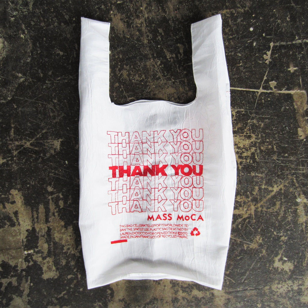 MASS MoCA Thank You Bag: Red + White