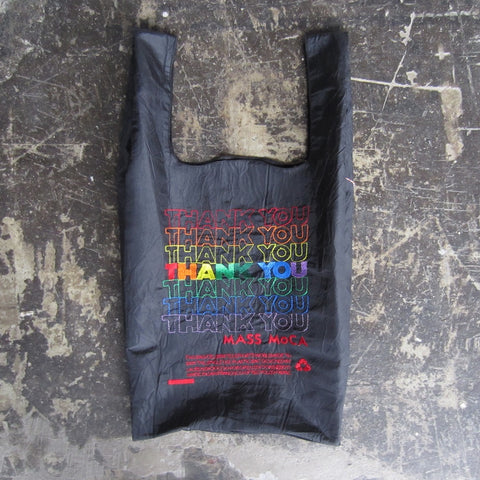 MASS MoCA Thank You Bag: Rainbow + Black