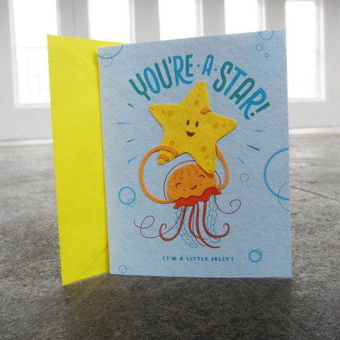 Greeting Card: Little Jelly Congrats