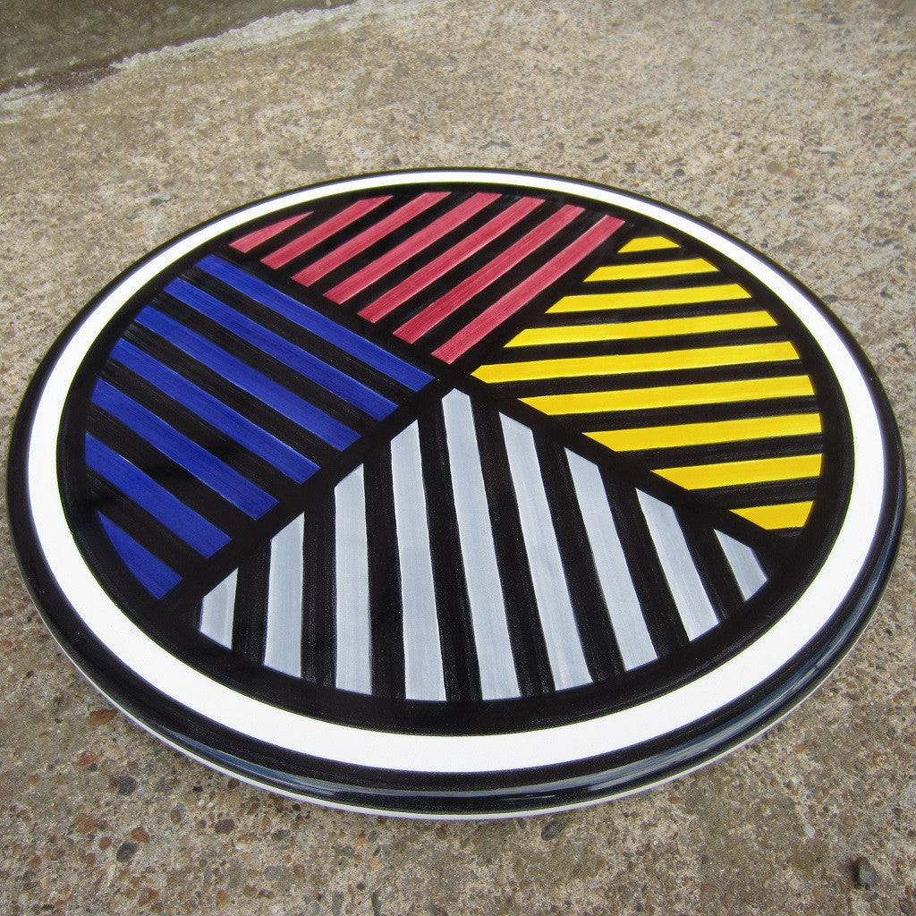 Sol LeWitt Serving Platter: Black Lines in 4 Directions