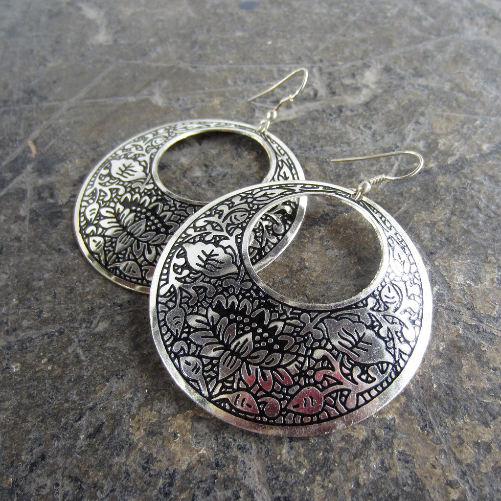 Metal Impression Earrings
