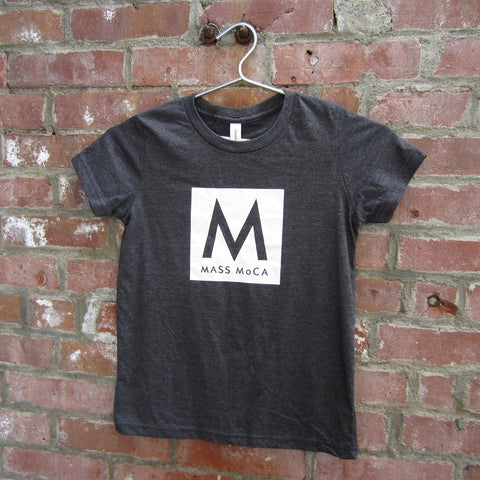 MASS MoCA Kids T-Shirt: Dark Grey with Logo