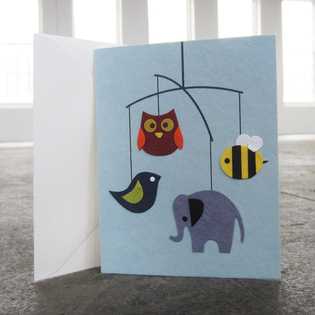 Greeting Card: Animal Mobile