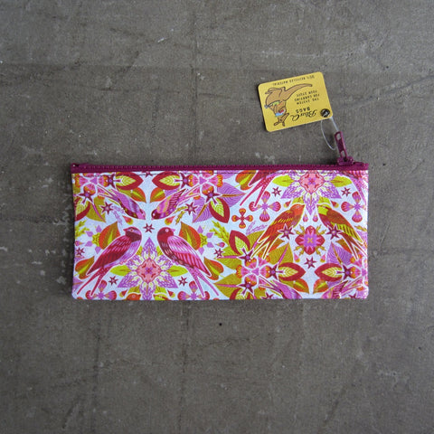 Pencil Case: Pink Birds