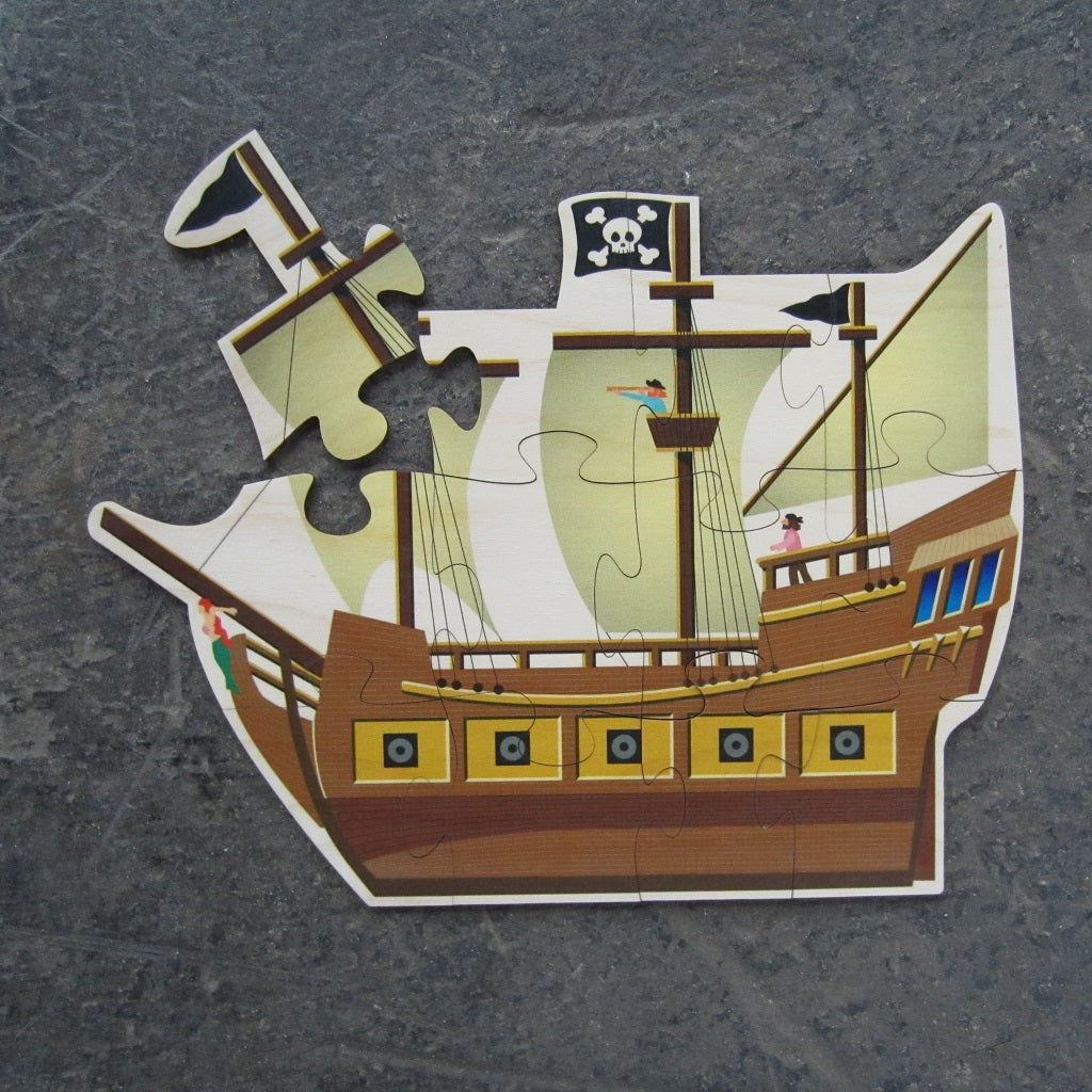 Wooden Puzzle: Pirate Ship