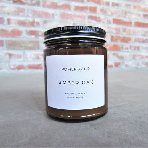 Natural Soy Candle: Amber Oak