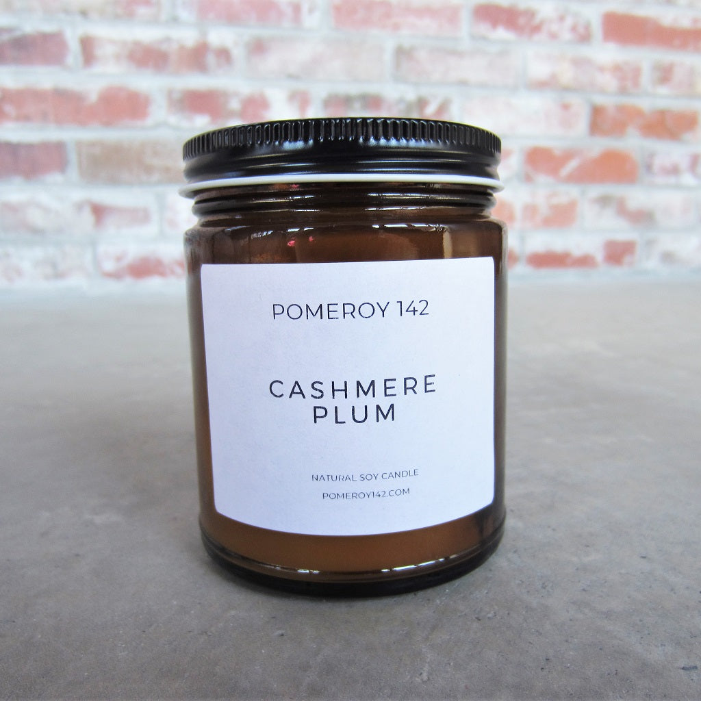Natural Soy Candle: Cashmere Plum