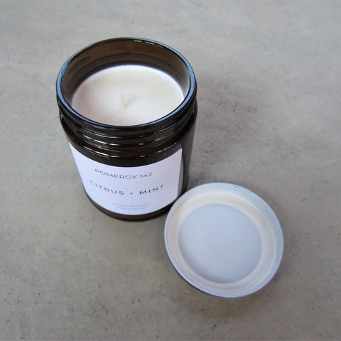 Natural Soy Candle: Citrus and Mint