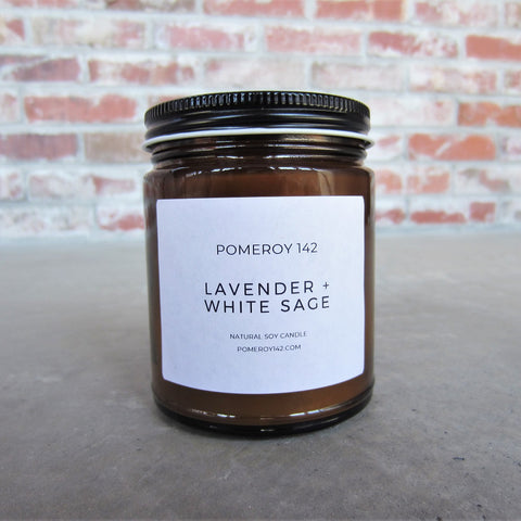 Natural Soy Candle: Lavender and White Sage