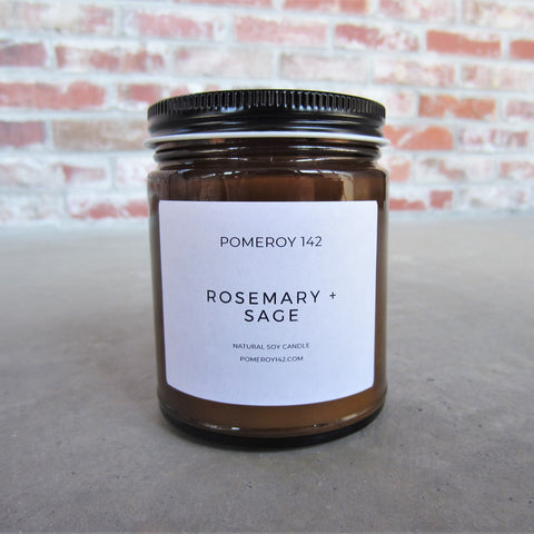 Natural Soy Candle: Rosemary and Sage