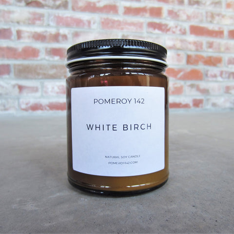 Natural Soy Candle: White Birch
