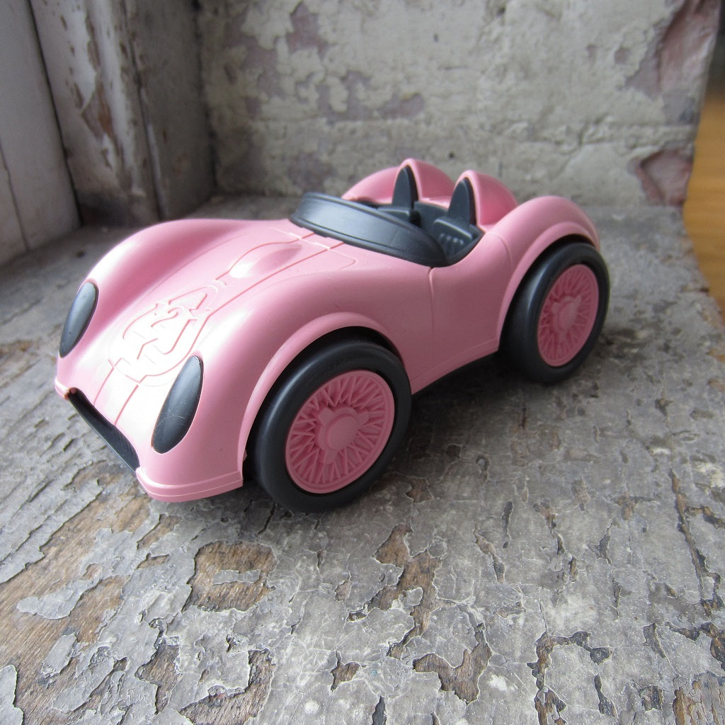 Recycled Plastic Race Car: Pink