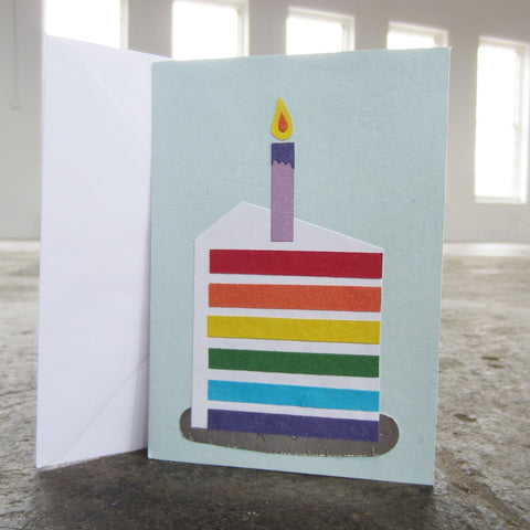 Greeting Card: Rainbow Cake