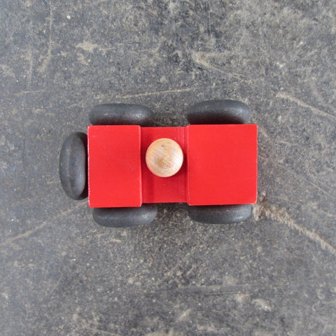 Little Wooden Car: Red Jeep