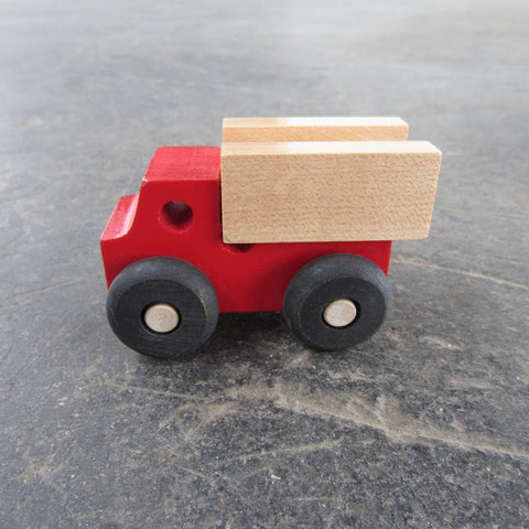 Little Wooden Car: Red Truck