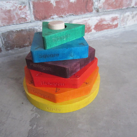 Colorful Shape Stacker