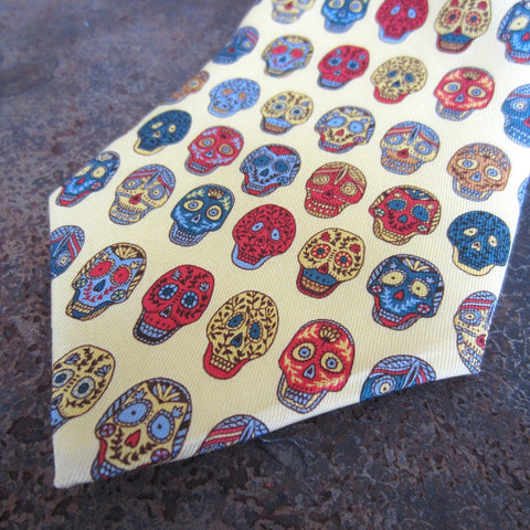 Silk Necktie: Day of the Dead