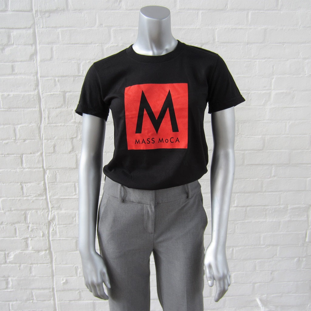 MASS MoCA Black T-shirt: Fitted