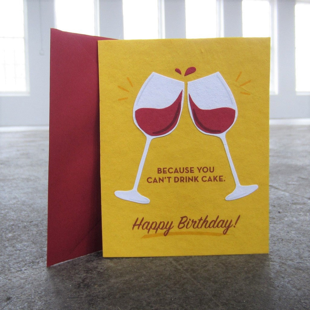 Greeting Card: Wine Birthday