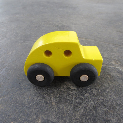 Little Wooden Car: Yellow Coupe