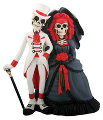 New Gothic Wedding Cake Topper and Day of the Dead Statues