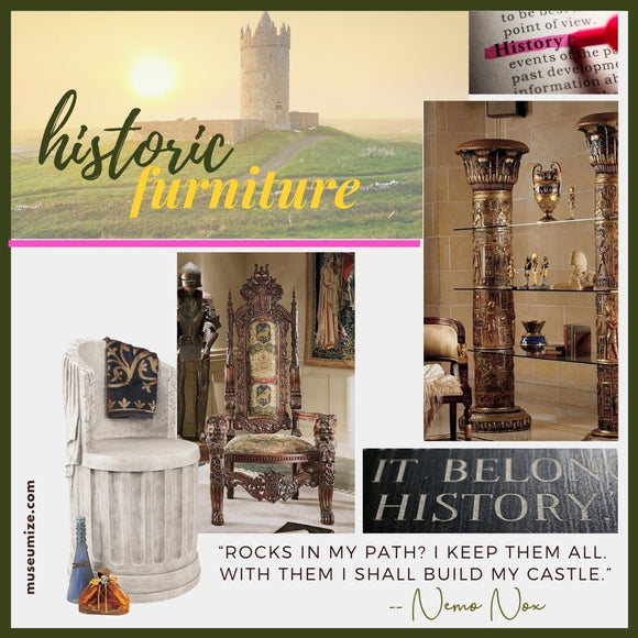 furniture from castles villa historic old world