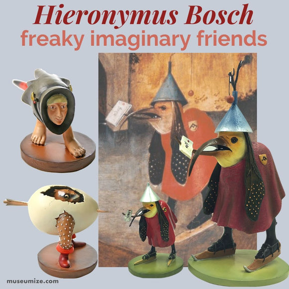 bosch bird with letter freaky imaginary friends