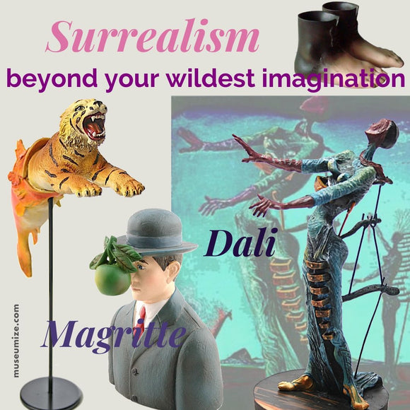 surrealism, salvador dali, rene magritte, beyond your wildest dreams
