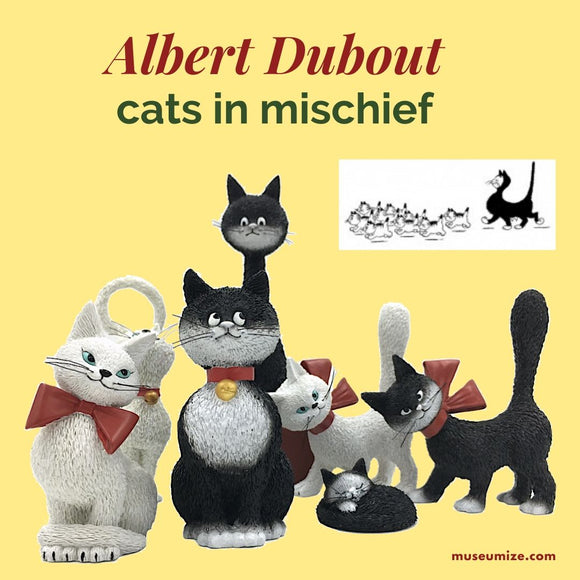 dubout cat figurines adapted from cartoons parastone