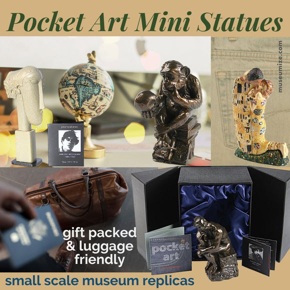 pocket art miniature museum statue in gift box by parastone