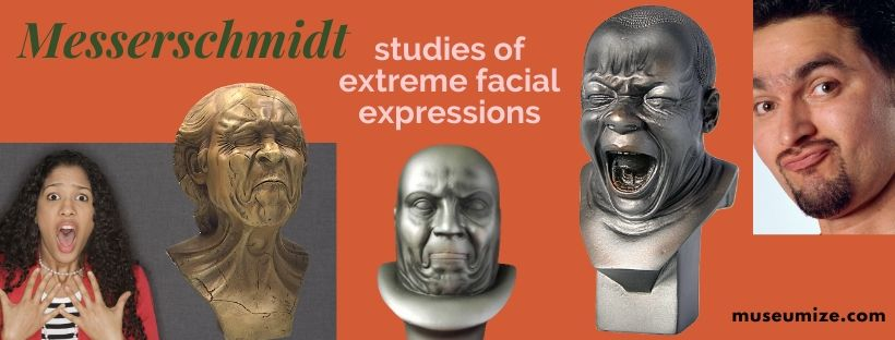 funny facial expression, studied by Messerschmidt, yawning man