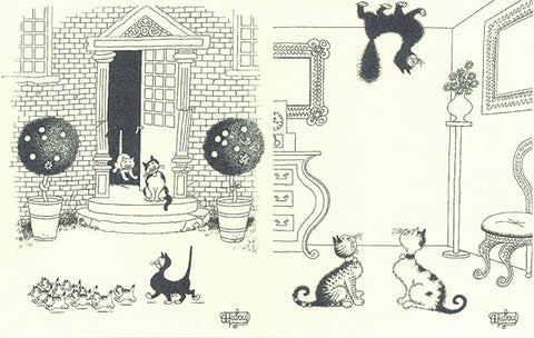 dubout drawing of funny cats