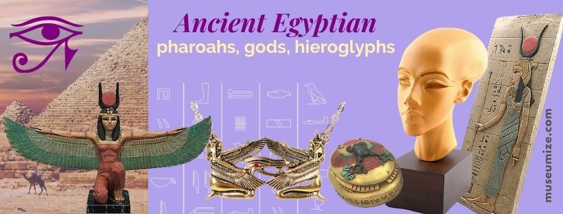 egyptian art replicas, egyptian museum store, winged isis, pyramids, tomb paintings