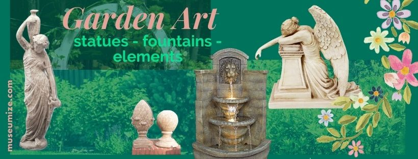 historic garden decor statues fountains finials wall sculptures