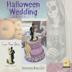 halloween wedding with day of the dead skulls