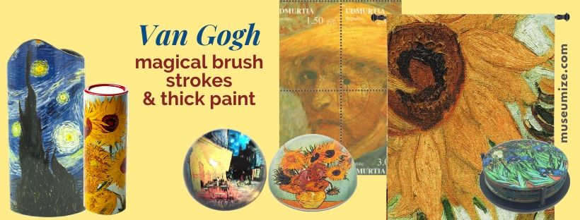van gogh starry night gifts, sunflowers, van gogh museum store