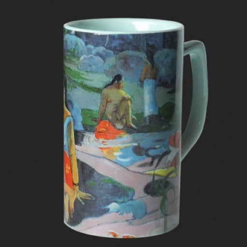Mug Gauguin Eau Delicieuse Tahitian Women Blue Ceramic 8oz
