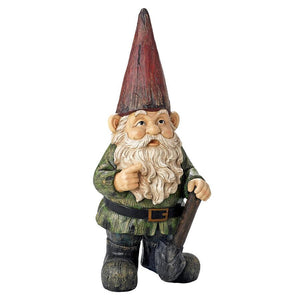 Gottfried The Grande Garden Gnome Forest Friend Outdoor Color Statue 45.5H
