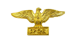 Roman SPQR Military Eagle Ancient Rome Pin Pinback Badge Gold Plated