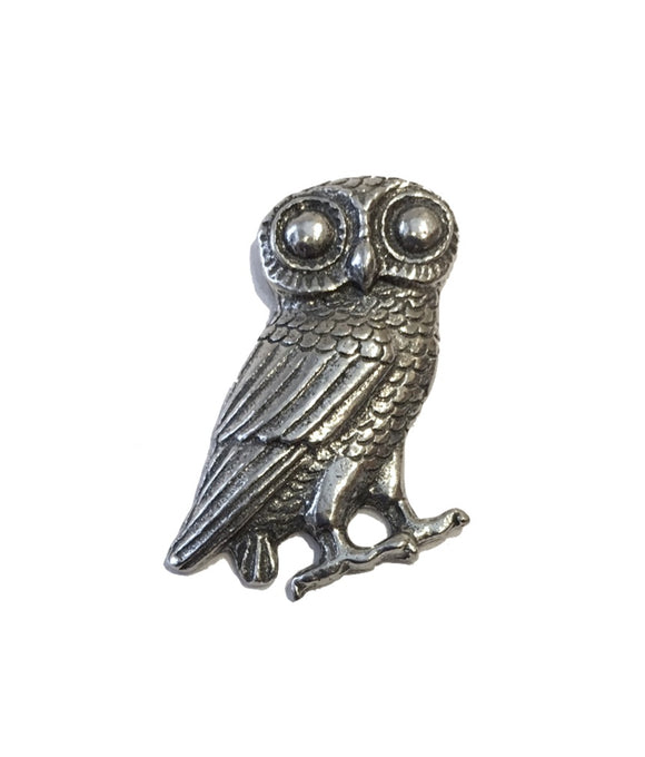 Owl Athena Minerva Pin Badge Tie Tack Pinback Pin Badge